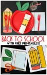 Printable Back to School Table Settings