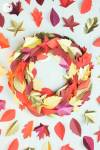 DIY | Autumn Paper Leaf Wreath & Printable Template