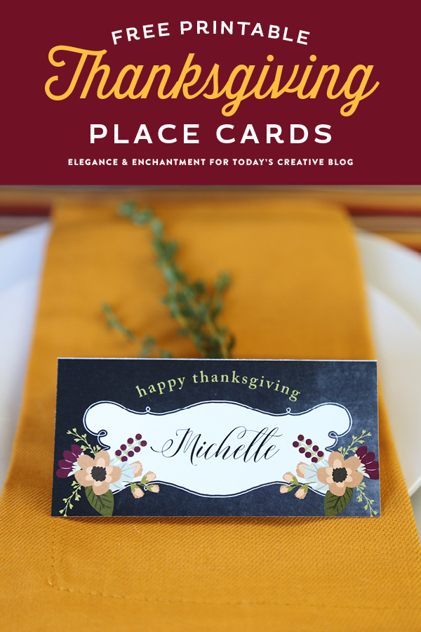 Printable Thanksgiving Place Cards?