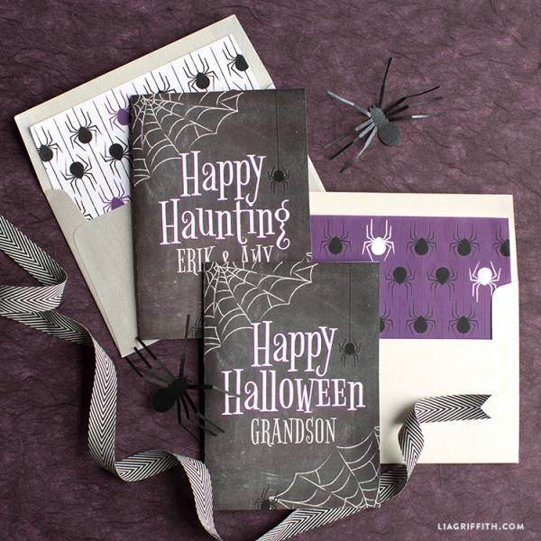 Free halloween greeting cards or mini book covers scrap booking get these free printable halloween greeting cards to send to friends and family the pdf files are editable so you can change up the sentiment m4hsunfo