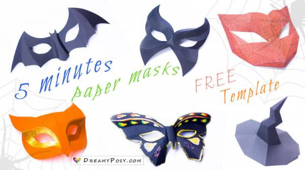 how to make easy and fast paper masks scrap booking how to make easy and fast paper masks