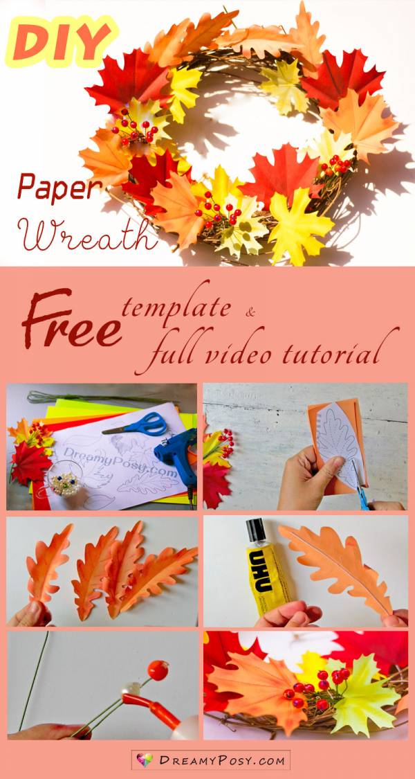 How to Make Paper Thanksgiving Decor