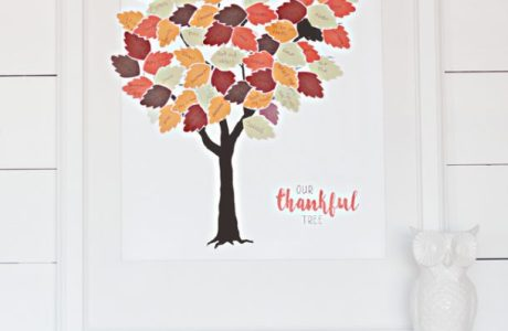 Thankful Tree Printable for Scrapbookers