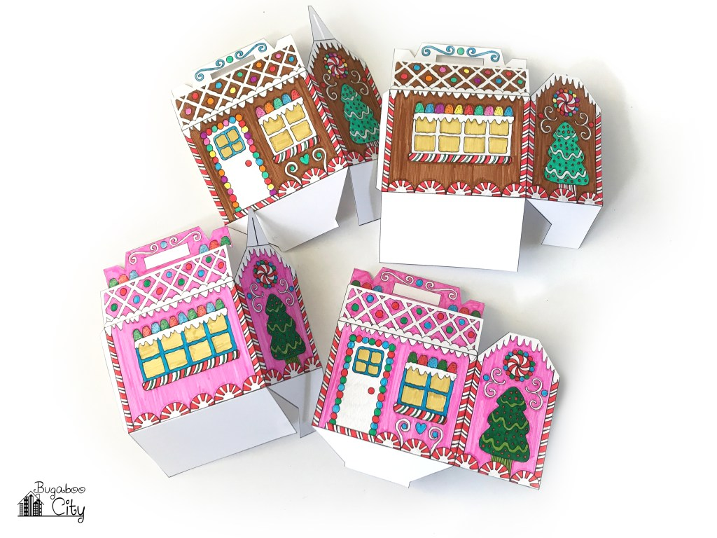 Color Your Own Gingerbread House Box Scrapbooking Adviser