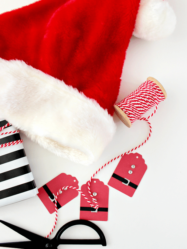 DIY Santa Suit Gift Tags