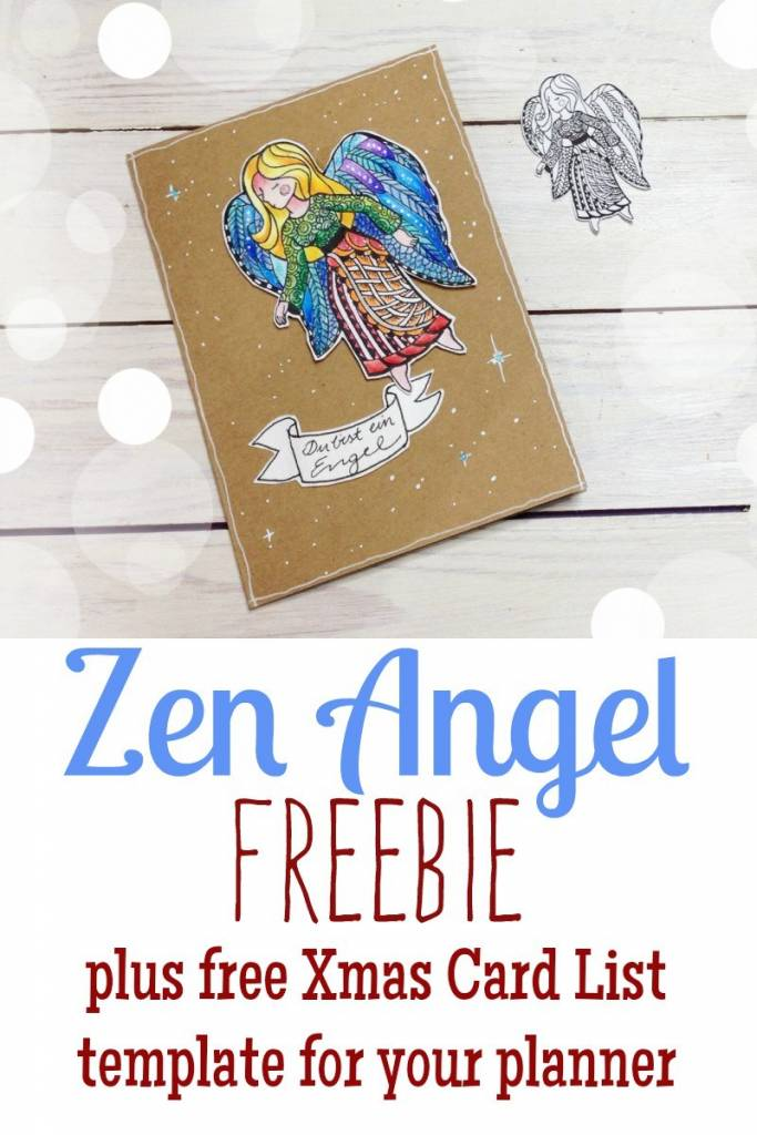 Printable Angel to Paint or Color + Gift List