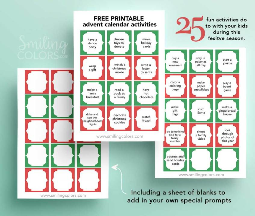 Printable Advent Calendar Activities