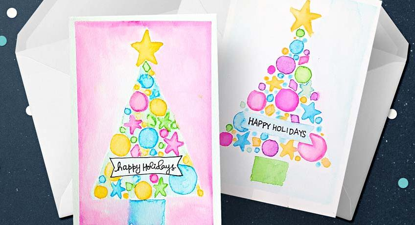 Watercolor Christmas Card Tutorial