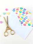 DIY | Conversation Hearts Envelope Liners for Valentine's Day