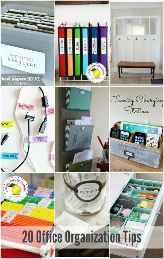 20 Office & Craft Room Organization Tips