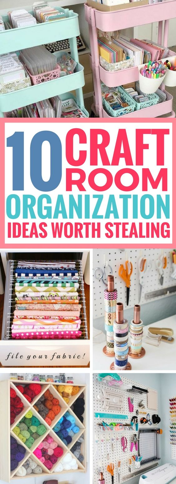 10 Best Craft Room Organization Ideas Worth Stealing