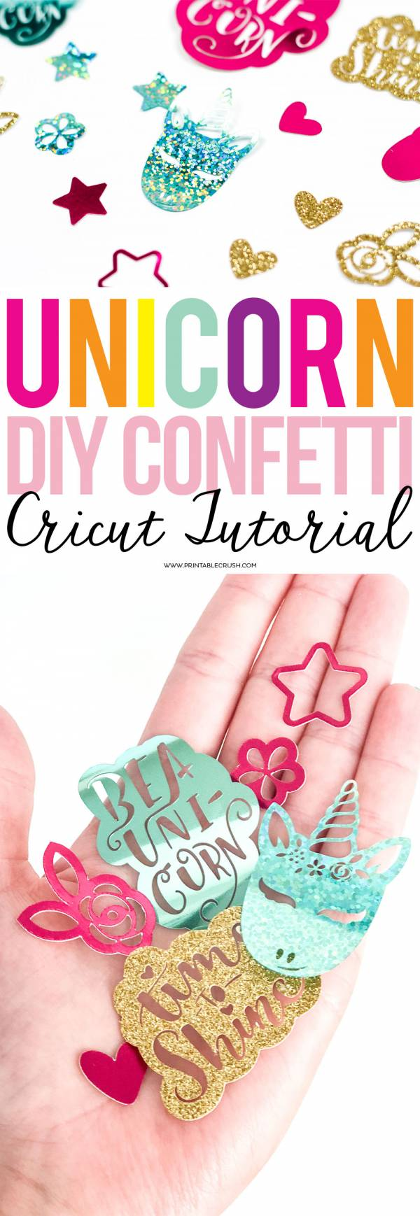 Unicorn DIY Confetti Cricut Tutorial