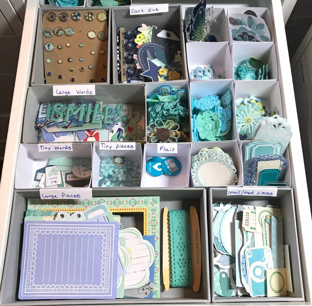 Embellishment Storage & Organization by Color