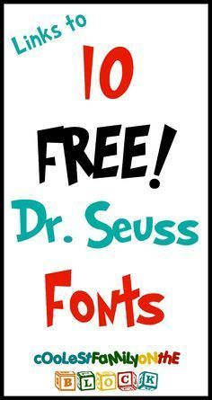 Links to 10 Dr. Seuss Fonts