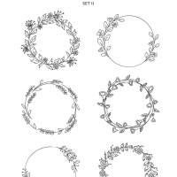 Download: Hand Drawn Spring Wreaths