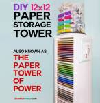 12x12 Paper Storage - DIY Vertical Organizer for Scrapbook Paper| Ikea Hack