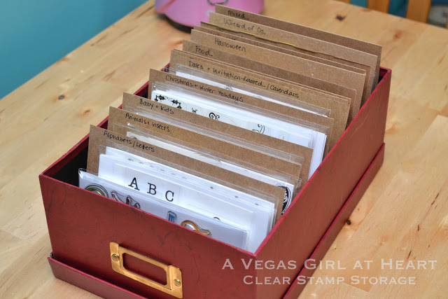 DIY Clear Stamp Storage