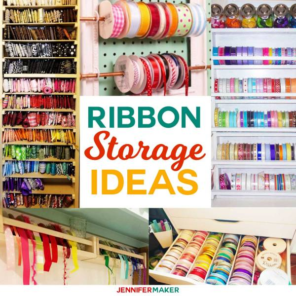 DIY Ribbon Storage Organizers, Racks, & Shelves