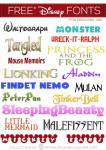 39  Disney Fonts - Moana, BFG, Zootopia + More