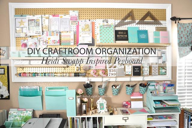Craft Room Organization Heidi Swapp Inspired Peg Board