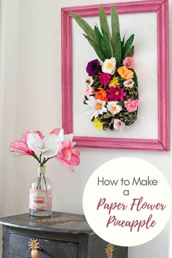 How to Make Pineapple Paper Flower Wall Art – Scrap Booking