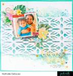 Tropical Scrapbook Page