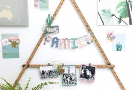 DIY Wall Art Photo Display