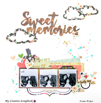 Sweet Memories Layout and Sketch