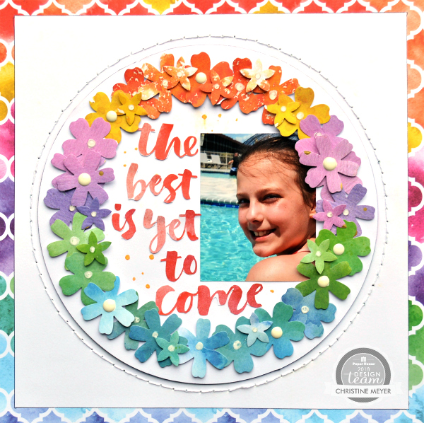 Rainbow Wreath Layout