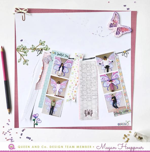 Butterfly Layout with Stamped Touches