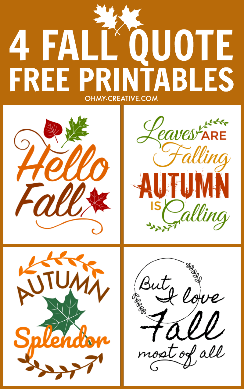 4 Fall Quote Printables