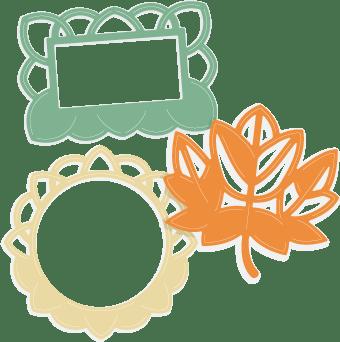 Fall Leaf Frames Dies