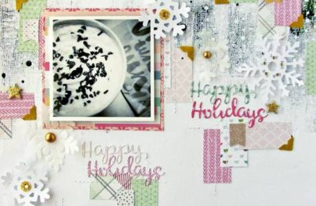 Pattern Paper and Foiled Holiday Layout