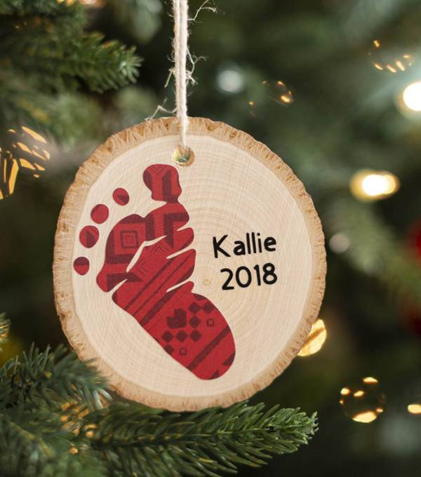 Baby Footprint Ornament