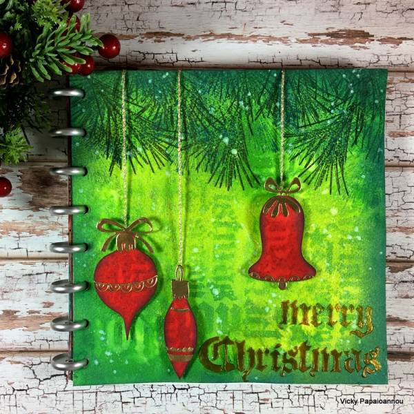 Mixed Media Christmas Journal Page