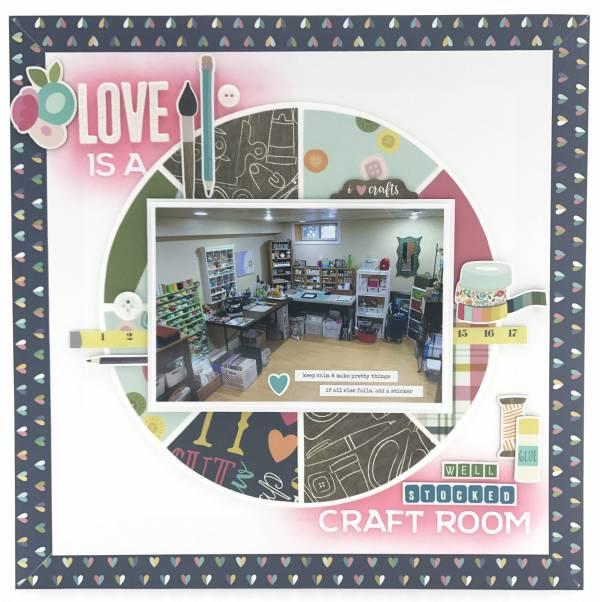 Craft Room Scrapbook Page