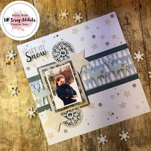 Let it Snow Scrapbook Page