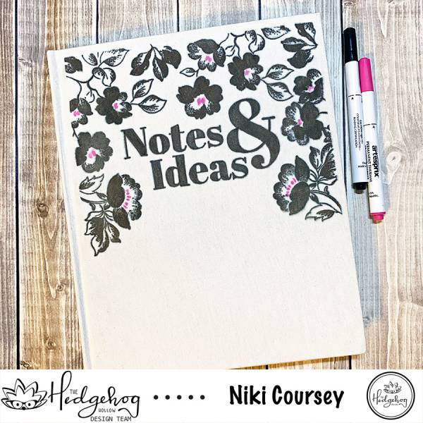 Custom Fabric Covered Notebook