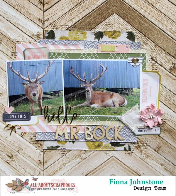 Rustic Deer Layout with a Pink Twist