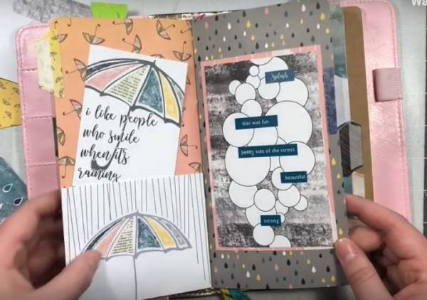 Rainy Day Traveler's Notebook