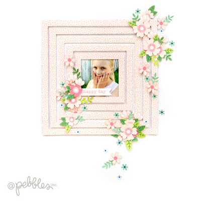 Layers of Frames Scrapbook Layout
