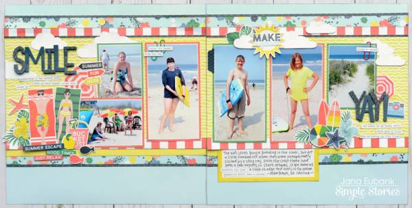 Beach Double Page Spread