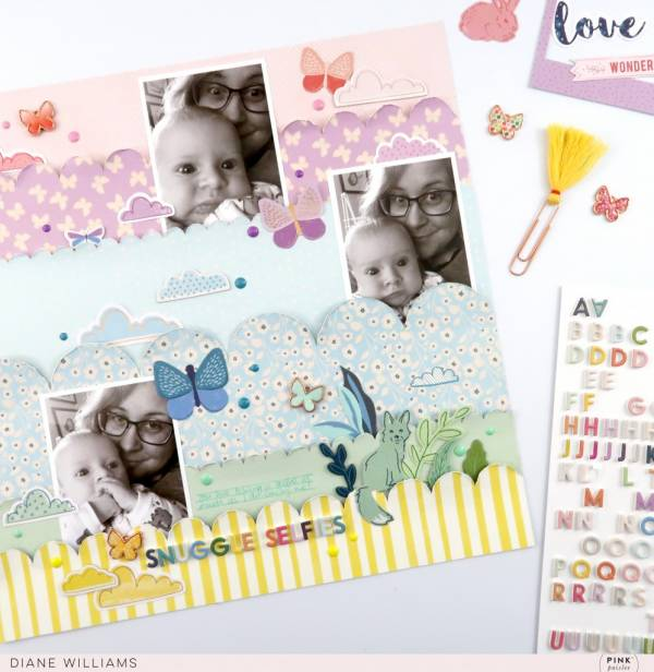 Rainbow Clouds Baby Page