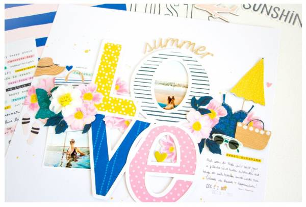 Summer Love Scrapbook Layout