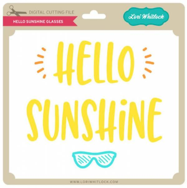 Hello Sunshine Die Cut File