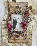 Vintage Wedding Scrapbook Page