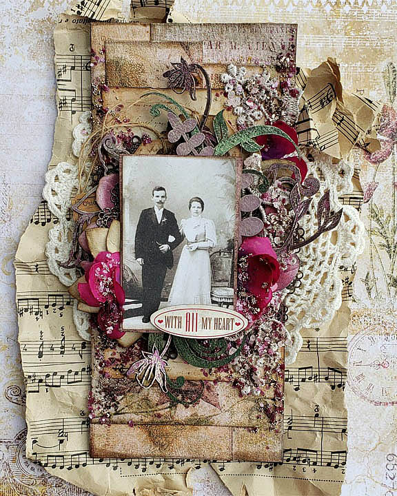Vintage Wedding Scrapbook Page