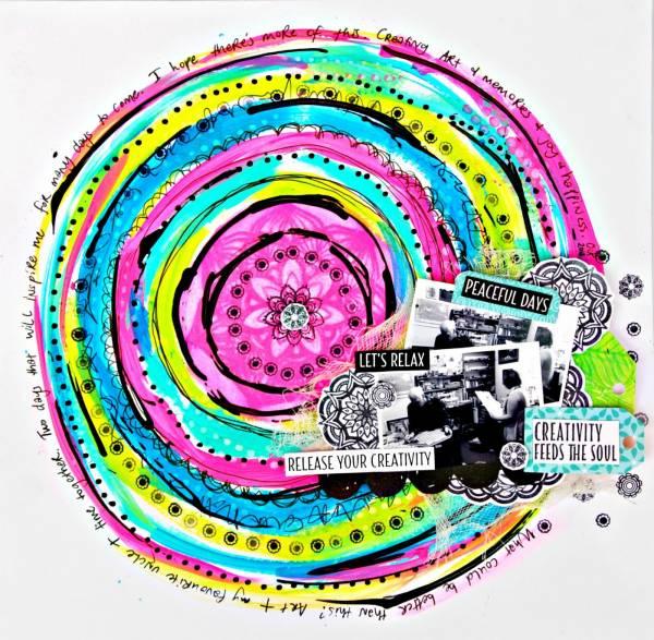 Colorful Mandala Page