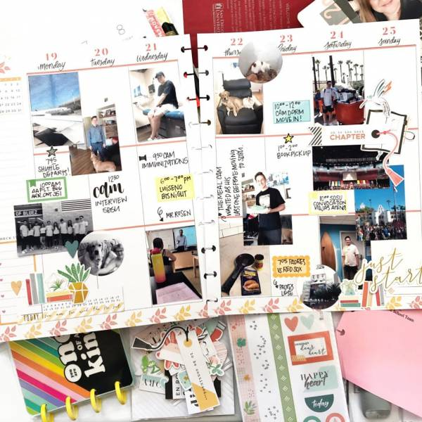 Planner Scrapbook Pages