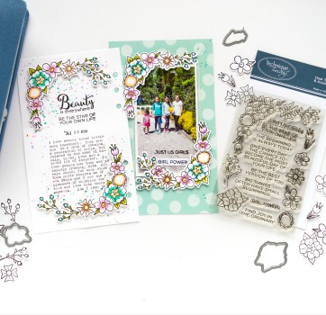 Create Scrapbook Embellishments from Stamps